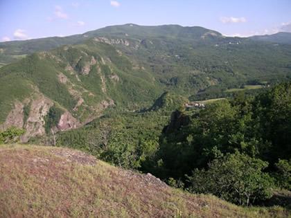 valle del Dragone nei pressi di Medola